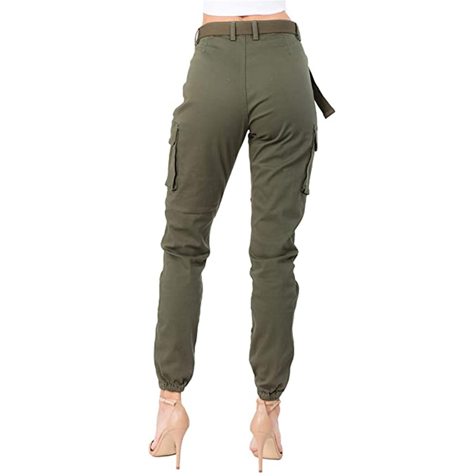 Women High Waist Trousers Slim Fit Slim Pants Autumn Sexy Female Women's Fashion Casual Joggers Elastic Pants Femme Pant QE