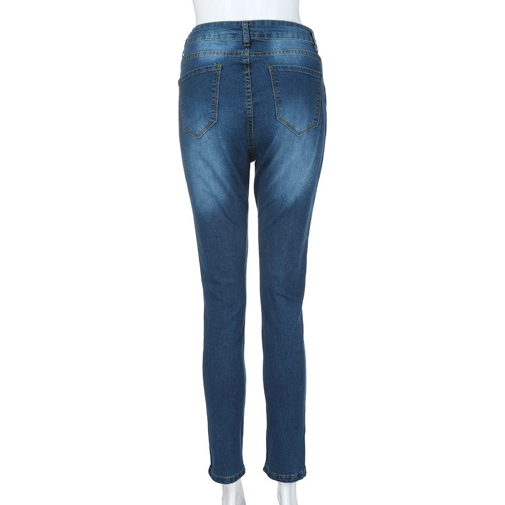 Women's Jeans High Waist Stretch Skinny Denim Pants 2021 Spring Summer джинсы Blue Retro Washed Elastic Slim Pencil Trousers