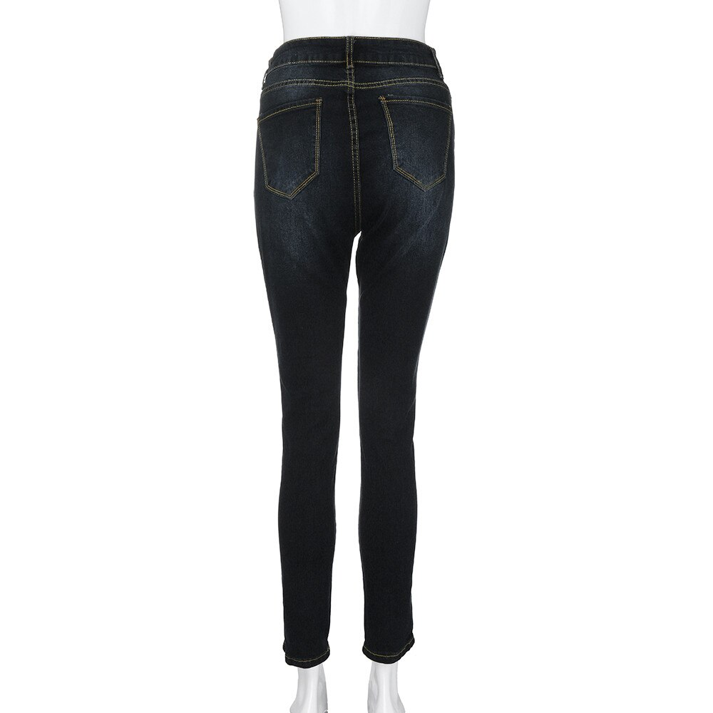 2021 New Solid Colour Button Pockets High-waisted Elasticity Slimming Skinny Jeans Women's Fashion Casual Plus Size Pencil Pants
