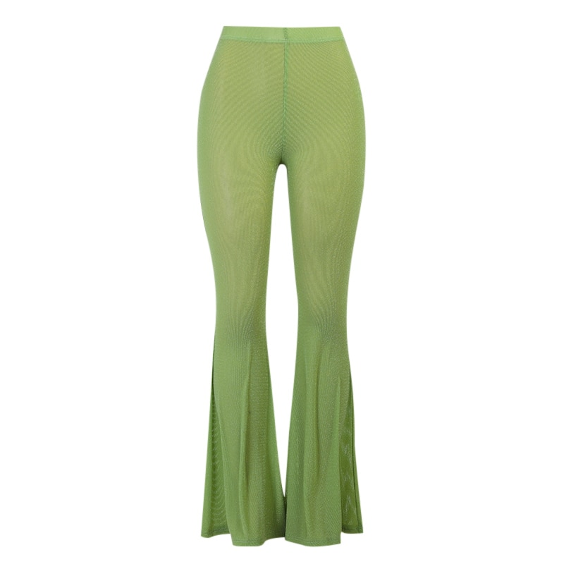 WannaThis Women's Pants Trousers Spring Skinny High Waist Full Length Pants Solid Fashion Casual Aesthetic Soft Flare Pants 2021