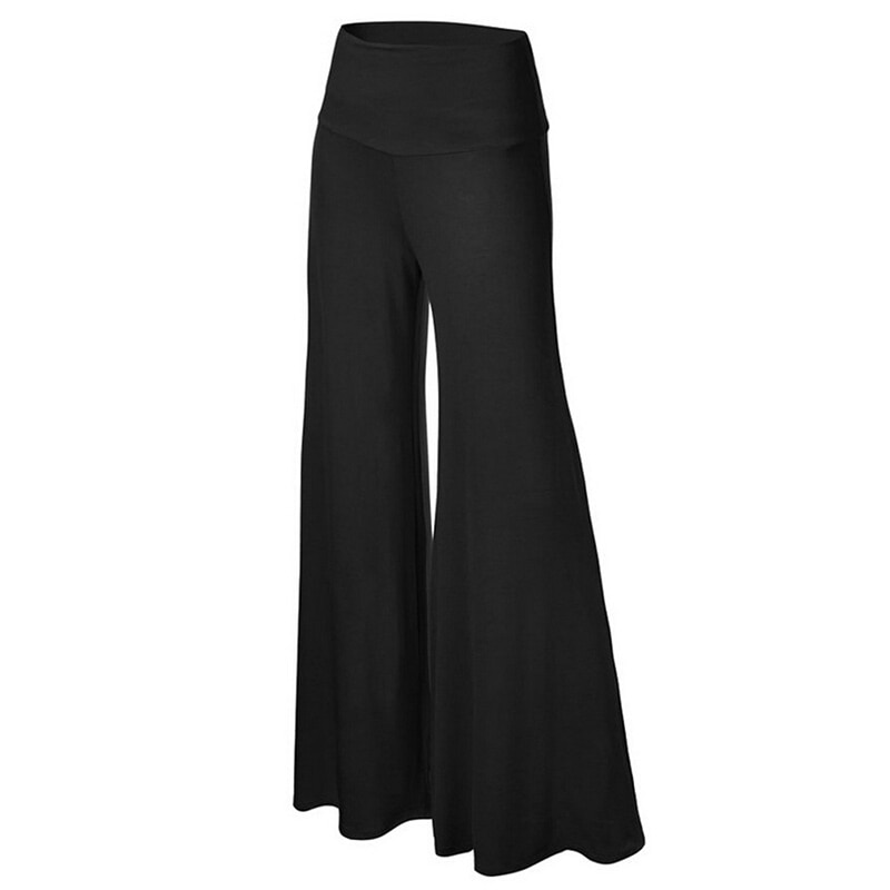 Autumn High Waist Pants Elegant Female Lady Women's Palazzo Flared Wide Killer Legs Pants OL Wide Leg Ladies  Long Trousers