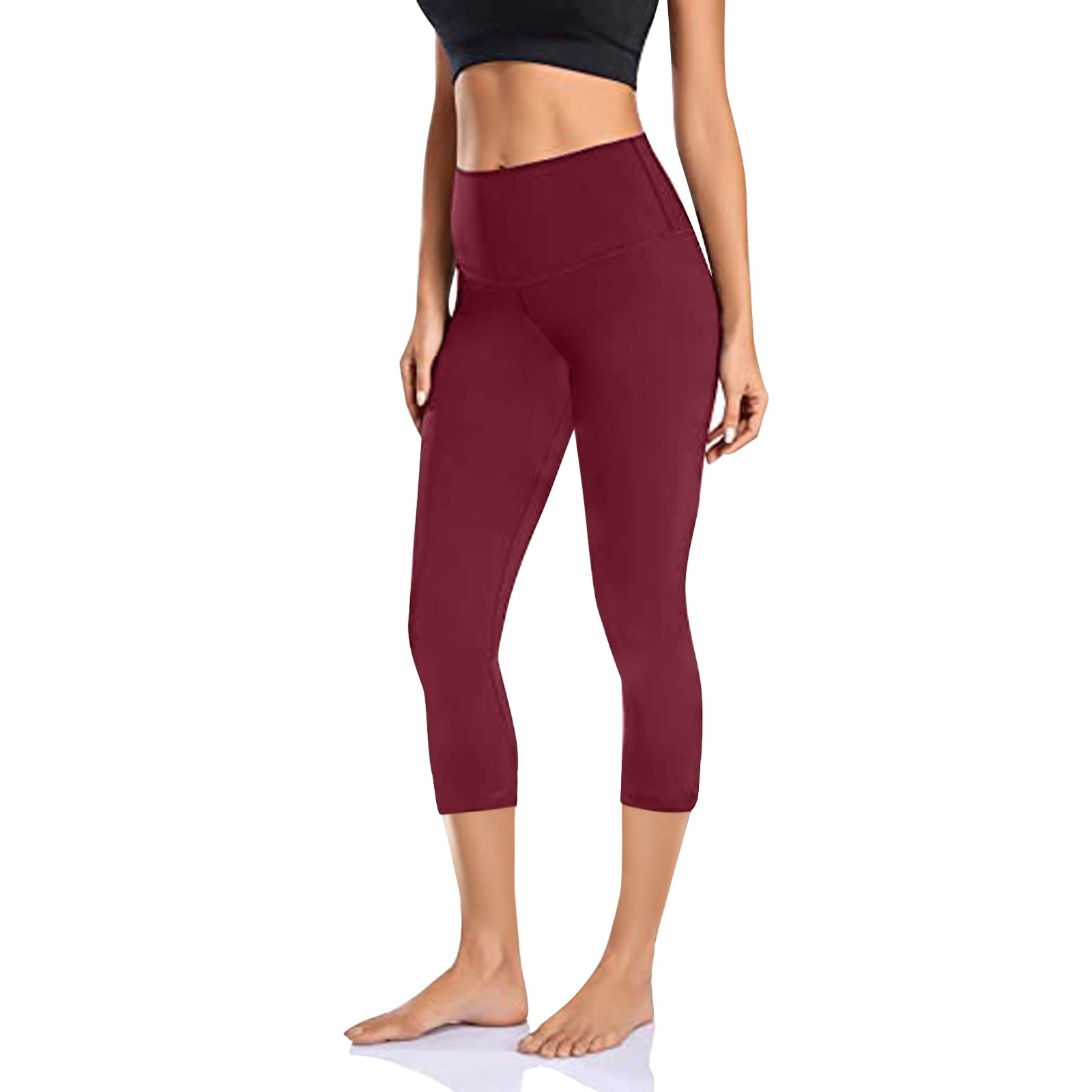 High waist solid color multicolor hip sexy sports pants running hip leggings women's fitness jogging gym stretch sports pants 40