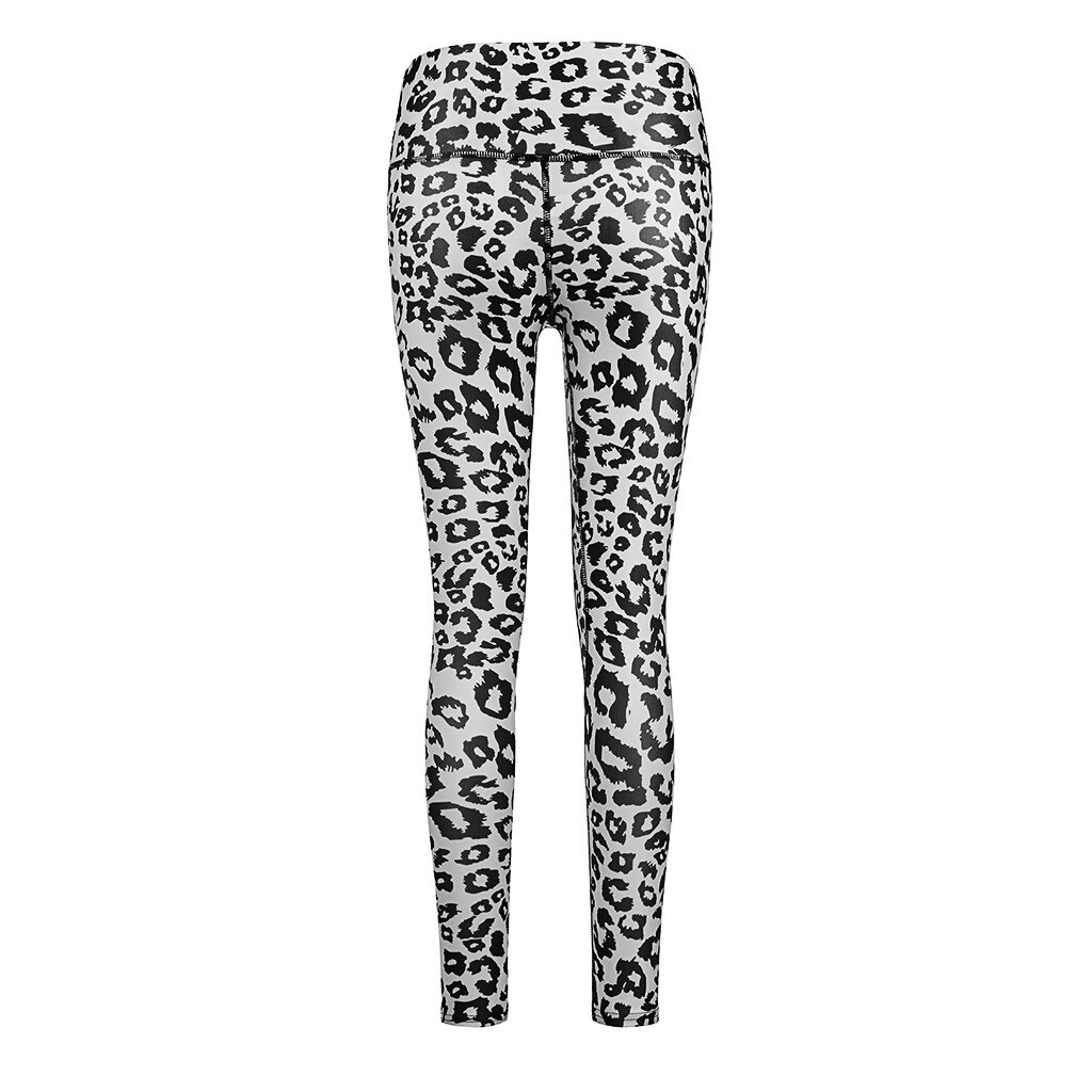 Women's Hip High Waist Leopard Print Exercise Running Leggings Pants Брюки Женские Pantalones De Mujer 2021