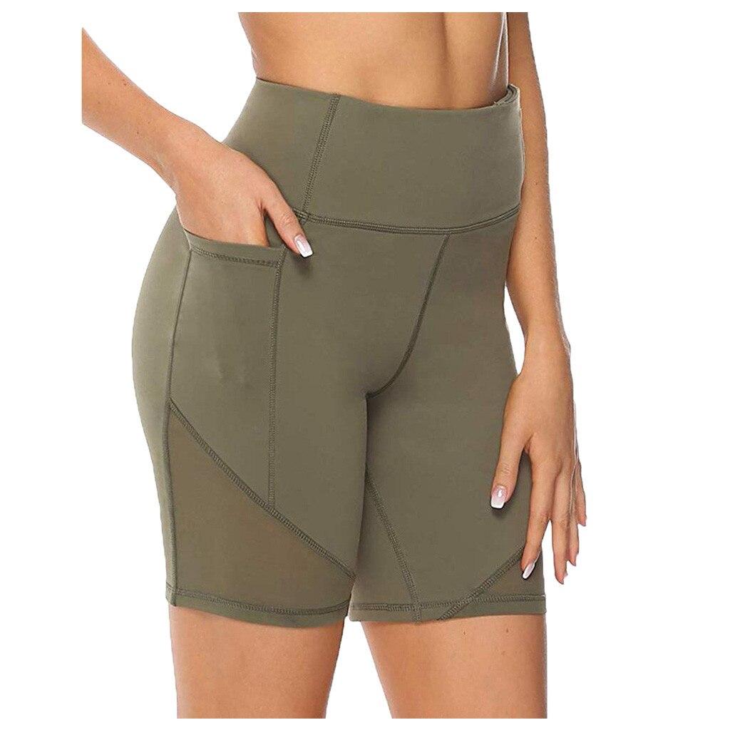 Sexy High Waist Sport Leggings Women's High Waist Short Abdomen Control Training Running Pants Squat Proof Pants