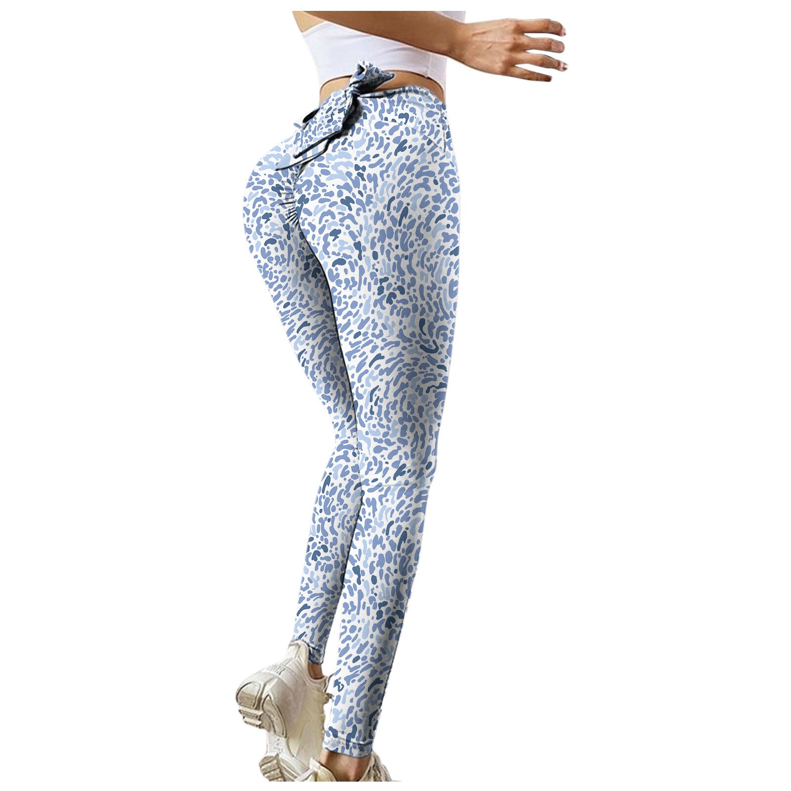 Women's Seamless High Waisted Sports Yoga Pants Sports Leggings Stretch Gym Athletic Workout Running Leggings Tights Pants