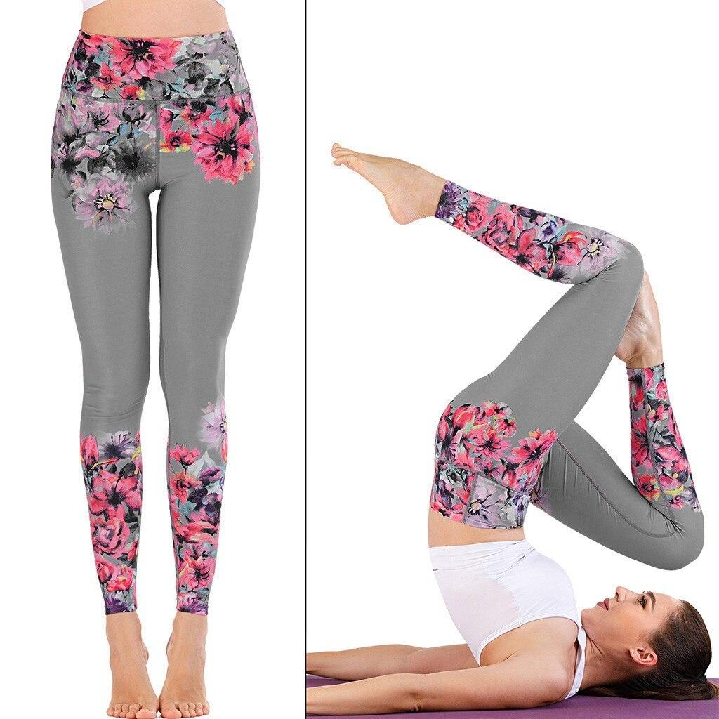 Women's Sports Pants Leggings Seamless Sport Women Fitness Gym Legging Print Running Seamless Sexy Elastic Workout Leggins