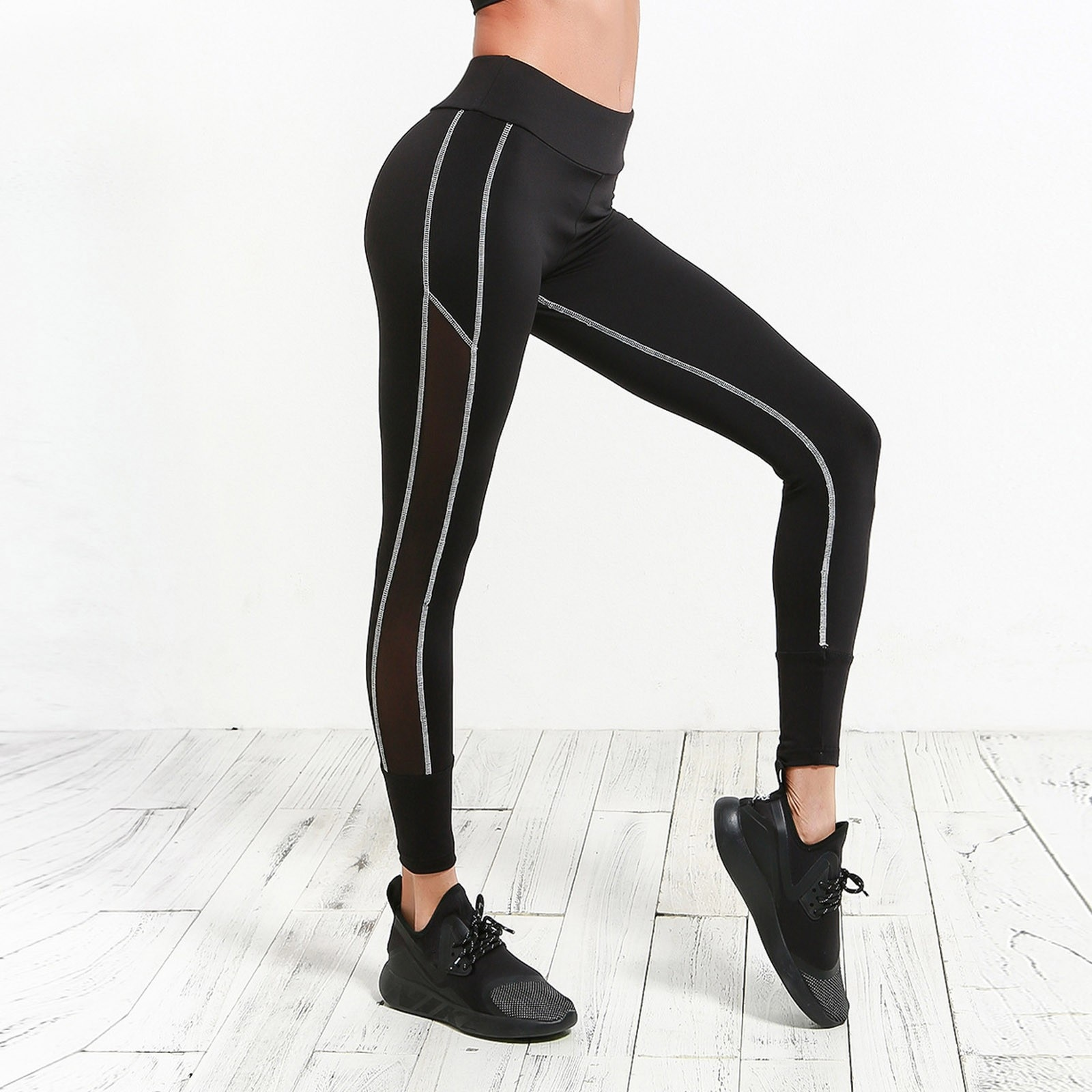 Women's Casual Thin Lifting Buttocks Stitching Fitness Exercise Yoga Pants Спортивные Штаны Running Wear For Women#35