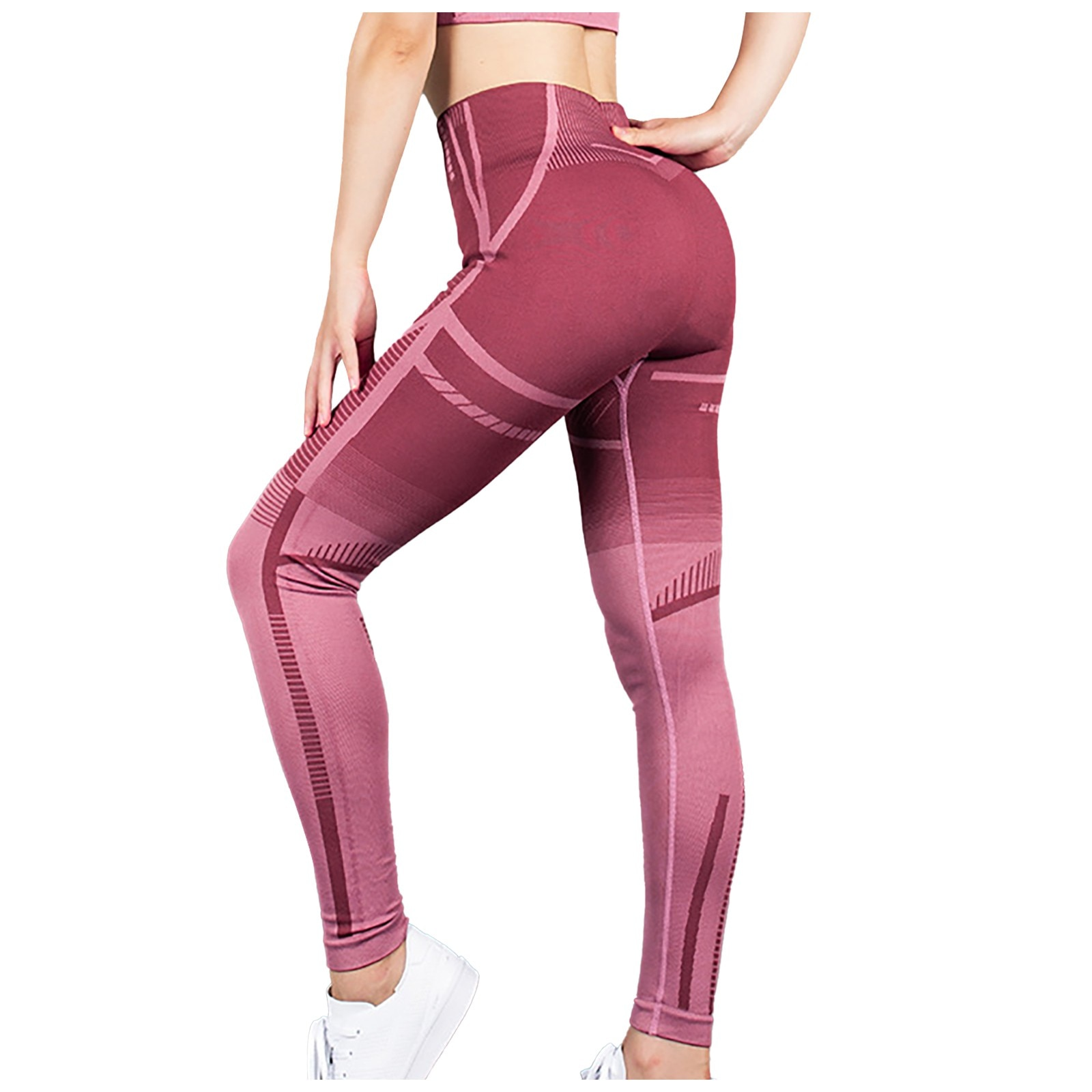 Yoga Pants Women's Seamless Yoga Pants Gym Running Fitness Sports Buttocks Striped High-stretch 2021 Hot Sale#30