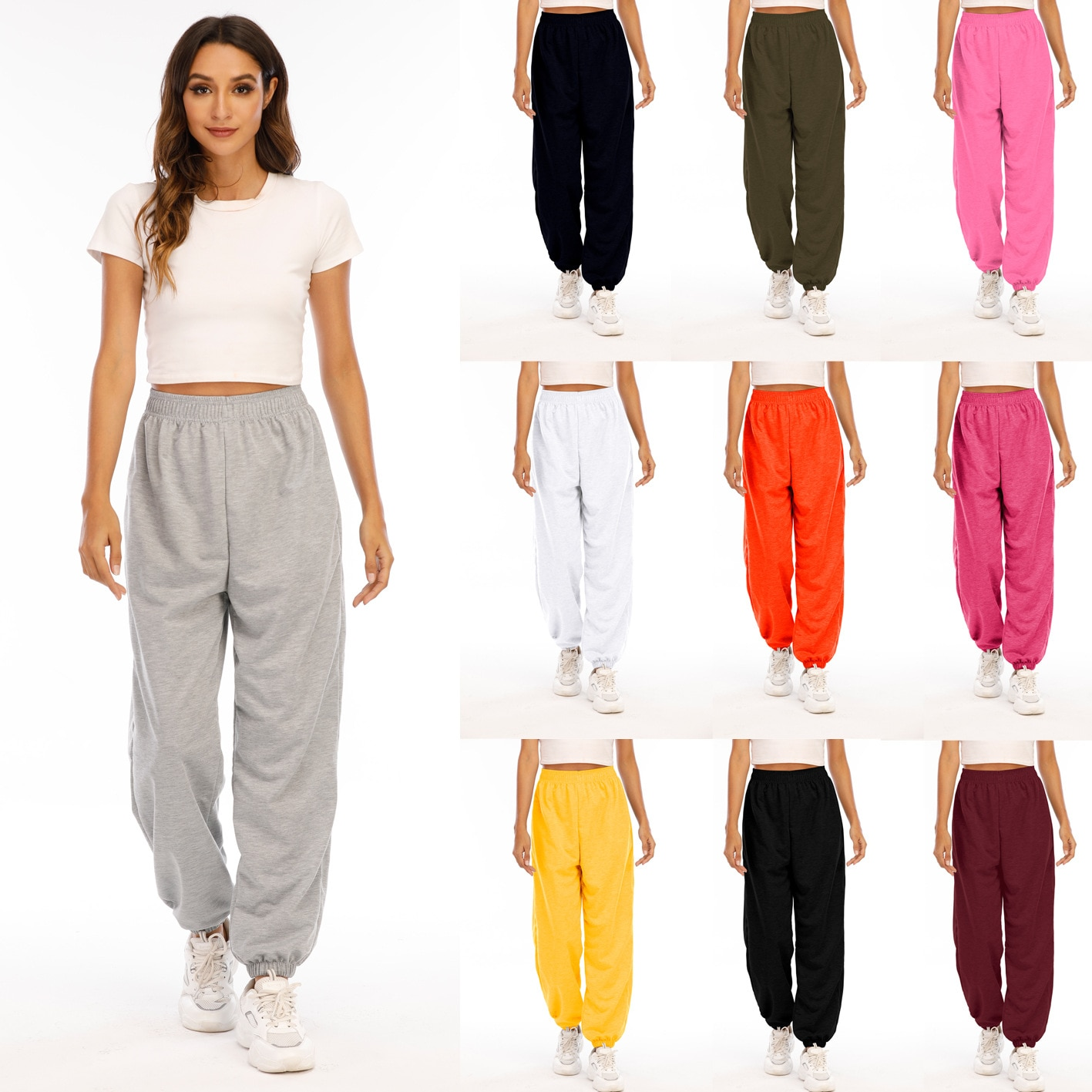 Women's Sports Pants Running Sport Joggers Summer Gym Fitness Sweatpants with Two Side Pockets Exercise Workout pants yoga pants