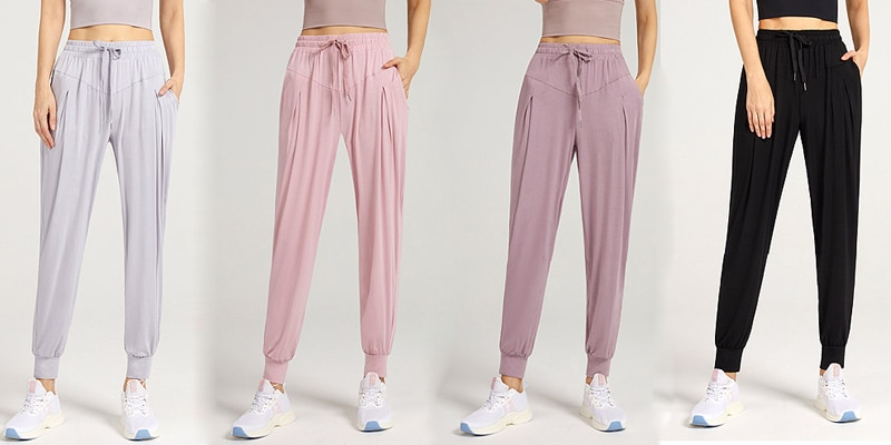 Women Long Running Pants Yoga Workout Sweatpants Fitness Sports Gym Hiking High Waist Clothing Women's Trousers For Female 17158