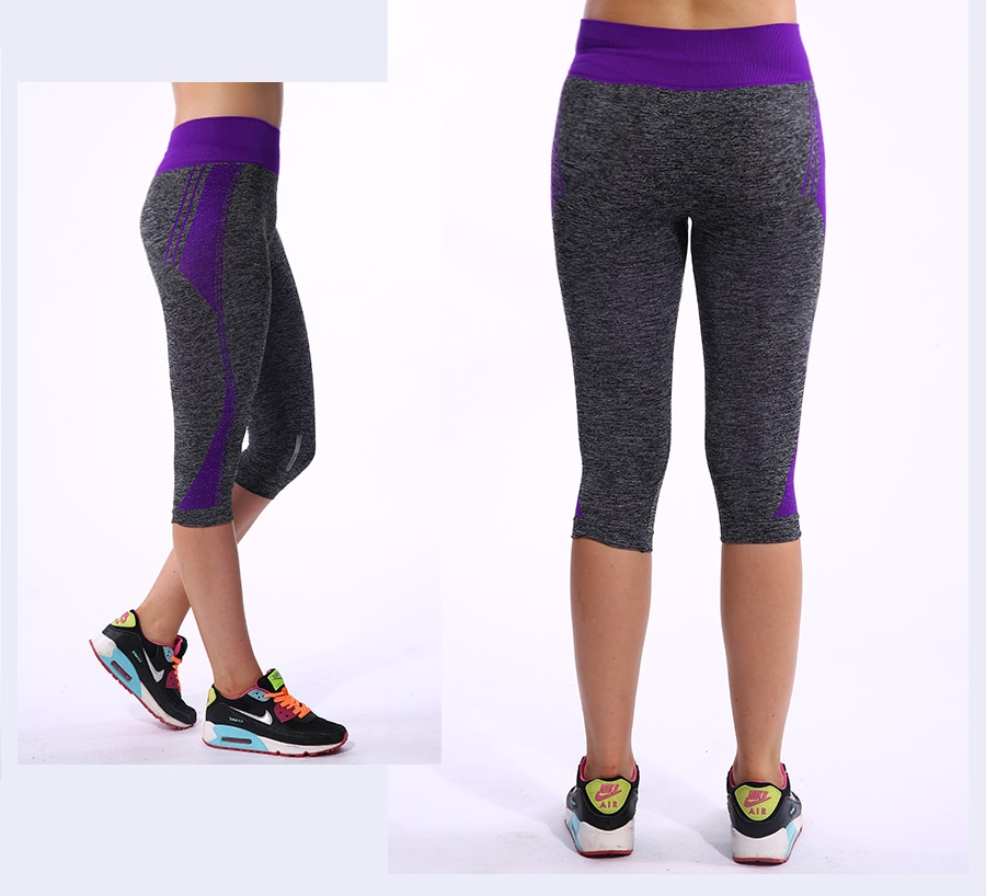 BINAND Yoga Pants Sports Tights Women's Sport Pants Capri Running 3/4 Length Fitness Gym Leggings Quick Dry Sports Trousers