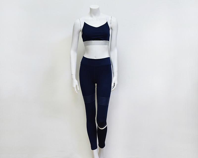 Yoga Set Skinny Leggings for Fitness Quick Dry Sports Crop Top Elastic Workout Set ZC1977 Sport Wear Women's Tracksuits Gym Set
