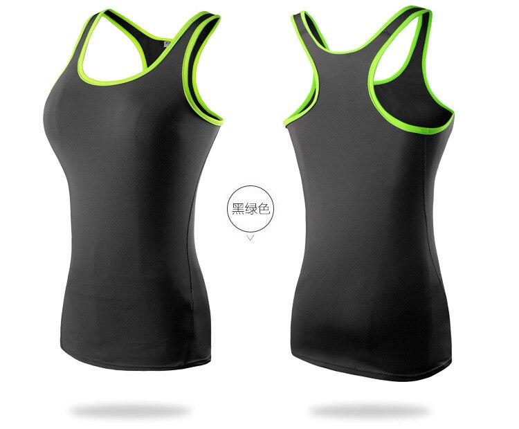 Women's Yoga Shirt Sports Vest Quick Dry Tight Training Yoga Running Fitness T-shirt Female Woman Sports Top