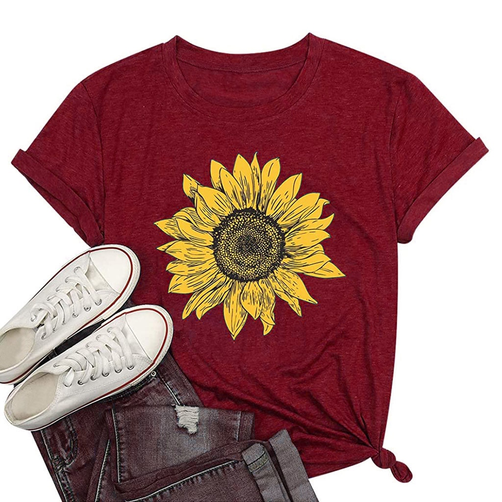 Sagace 2021 New Printed T-shirt Summer Fashion Women's Short Sleeves O-neck Floral Print Casual Tops Pullover Женские Футболки