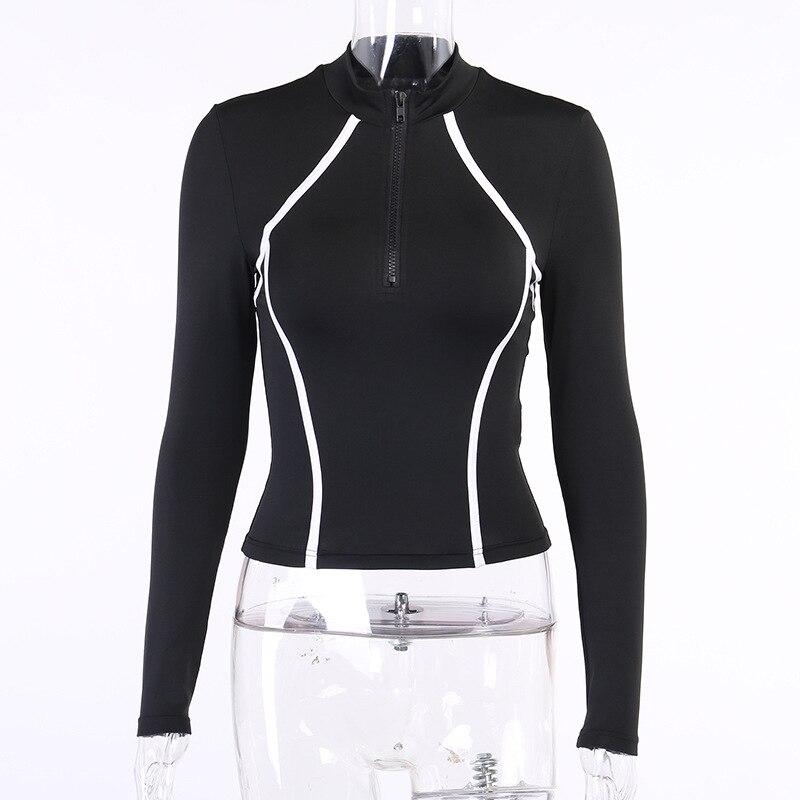 CXUEY Zipper Gym Sportswear Woman Fitness Suit 2021 Spring Yoga Kit Sport Workout Clothes for Women Tracksuit Female Set 2 Pcs L
