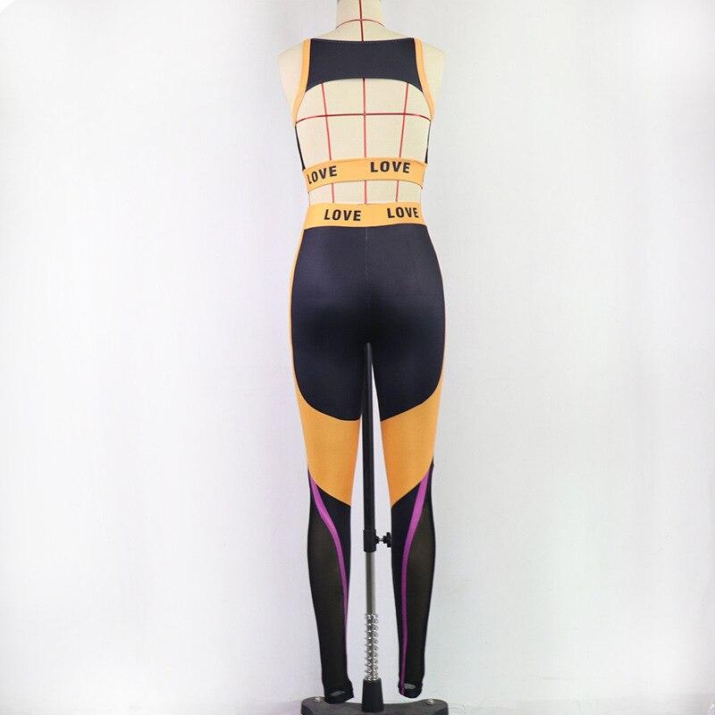 CXUEY Zipper Sport Yoga Kit Women Sportswear Fitness Suit High Elasticity 2 Piece Gym Workout Set Women Tracksuit Outfit Orange