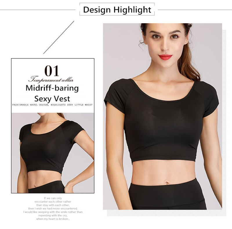 New Women's Outdoor Sports Sweater Jackets Yoga/Running Cycling Breathable Quick Dry Sexy Midriff-baring Vest