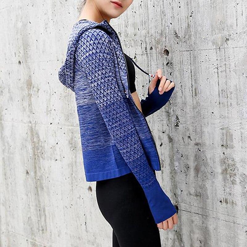 Sportswear Woman Zipper 2021 Gym Tracksuit Women's Sports Top Coat Yoga Shirt Jacket With Long Sleeves Fitness