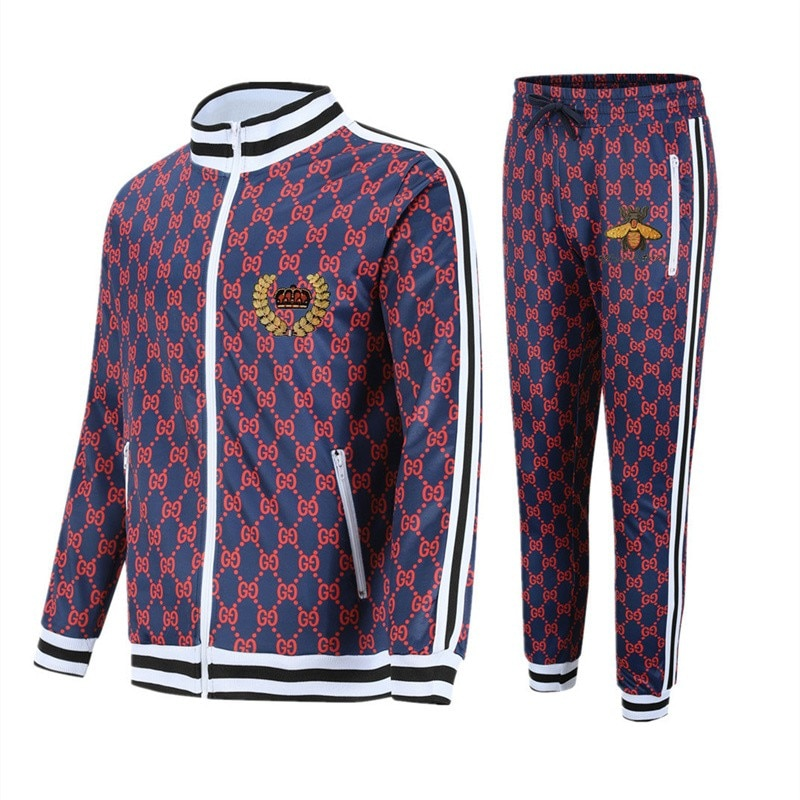 2021 fashion Europe and America new 3D-printed men's jacket + hip hop brand jogging pants spring and summer men's sports suit