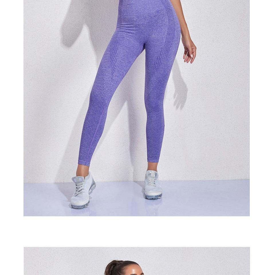 2PCS Seamless Leggings Women Yoga Set Gym Fitness Sportswear Summer Clothes Women's Tracksuit Workout Set Outfit Sport Suits