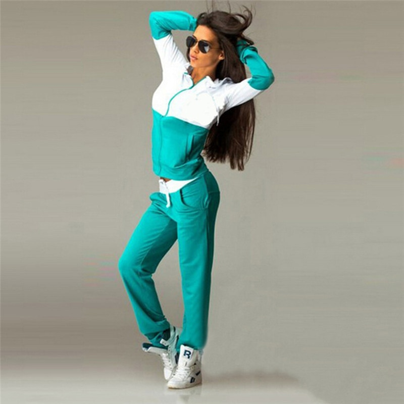 Women's Sports Suits Sexy Tracksuit Fitness Yoga Set Women Sportswear Winter Workout Running Jogging Set Suit Hooded Two Pieces