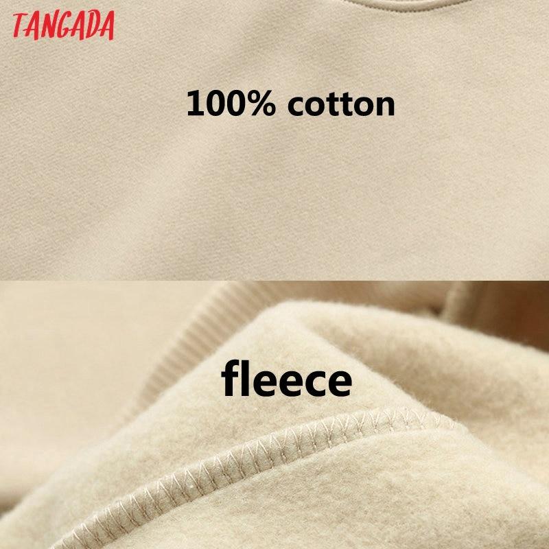 Tangada 2020 Women's Set Color Match Set Tracksuits Camis Hooded Fleece Sweatshirts Elastic Waist Pants Solid Color 6L35