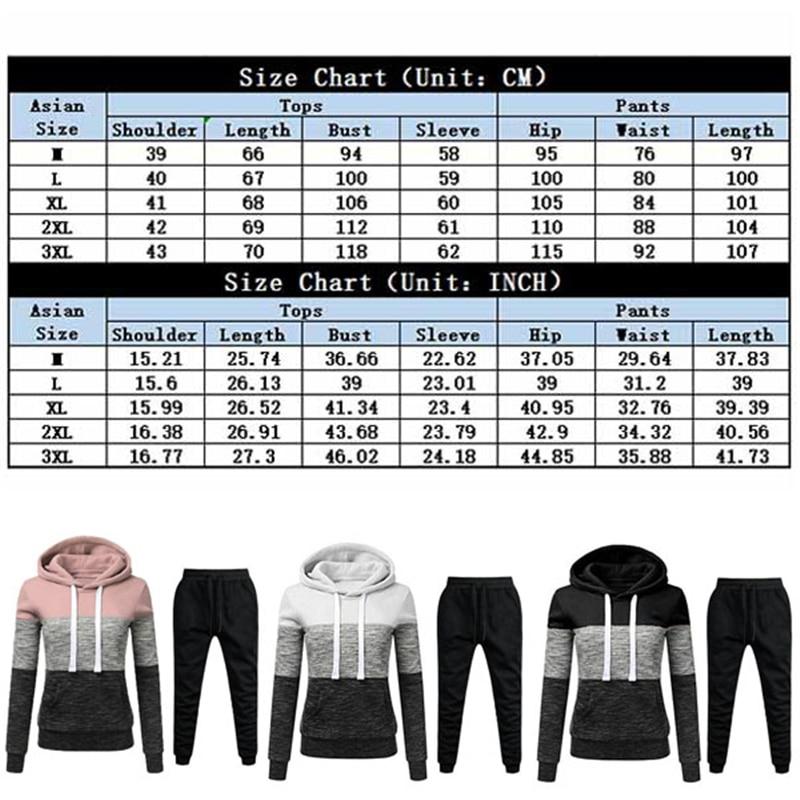Winter Tracksuit Women 2 Piece Set Print Hoodies+Pants Sportwear Women's Sports Suit Hooded Sweatshirt Set Female Winter Clothes