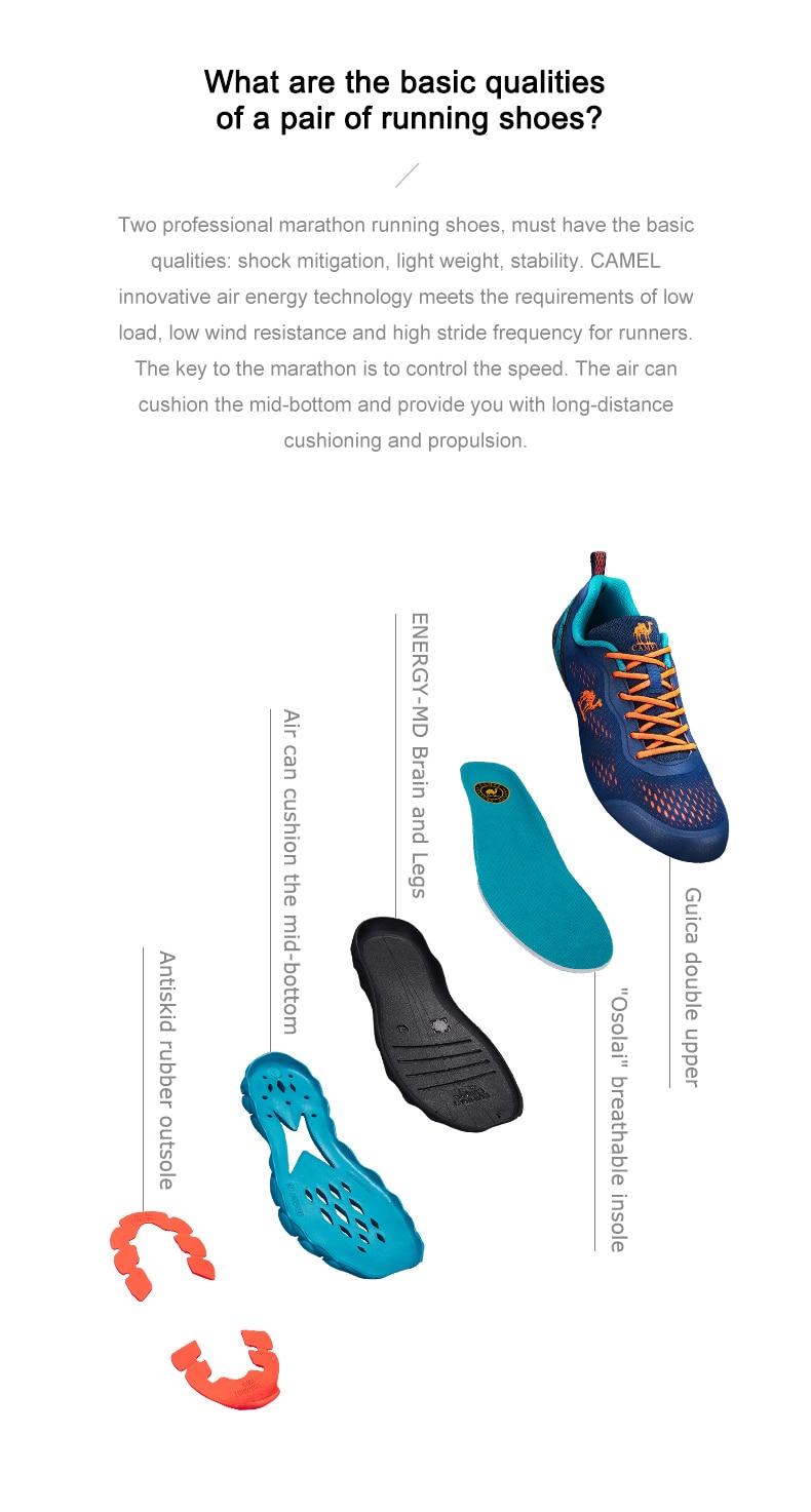CAMEL Women Men Shoes Unisex Marathon Running Shoes Women's Sneakers Outdoor Sports Shoes Professional Gym Fitness Footwear