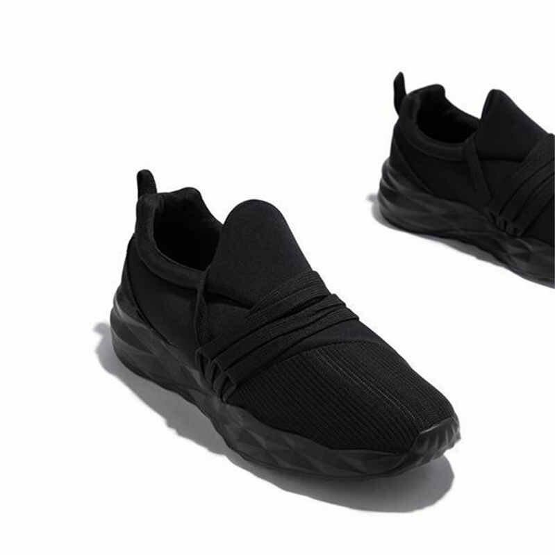 Plus Size Running Shoes Women Slip-on Flats Sneakers Female Green Platforms Zapatos Autumn Winter Warmest Women's Sports Shoe Q0