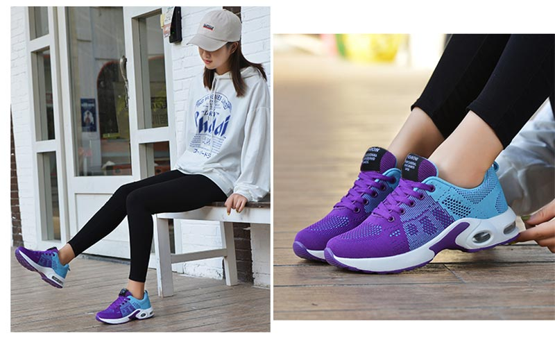 Big Size Summer Air Cushion Women's Sport Shoes Ladies Sneakers Female Running Shoes Sports Woman Blue Pink Basket Gym GMB-1055
