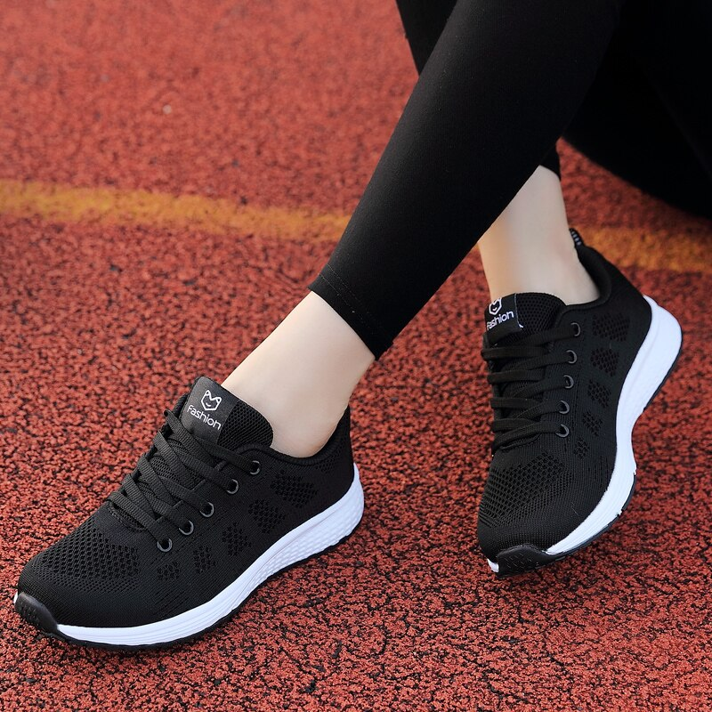New Running Shoes Mesh Breathable Lightweight Women's Shoes Lace-up Shoes Outdoor Brand Sports Shoes Womens Running Sneakers