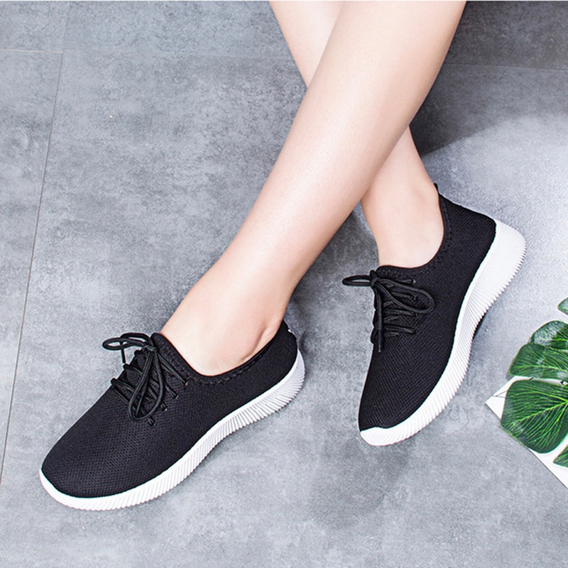 Women's Casual Shoes Outdoor Sports Athletic Sneakers Breathable Mesh Running Shoes