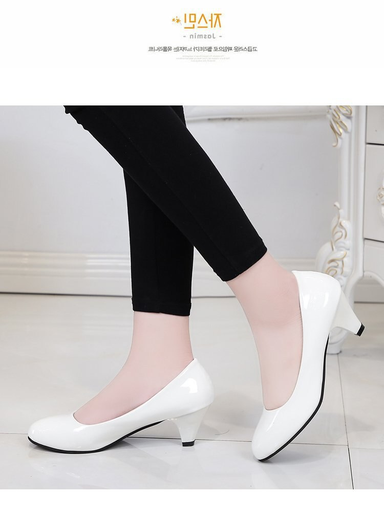 Single Shoes Simple Comfort Work Shoes Black High Heels Formal Wear Leather Shoes Sexy Small Size Women's Shoes 2020