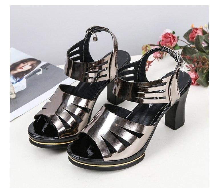 High Heel Sandals Women's Shoes 2021 Summer New Style Open Toe Fish Mouth Shoes Temperament Formal Dress Women Sandals