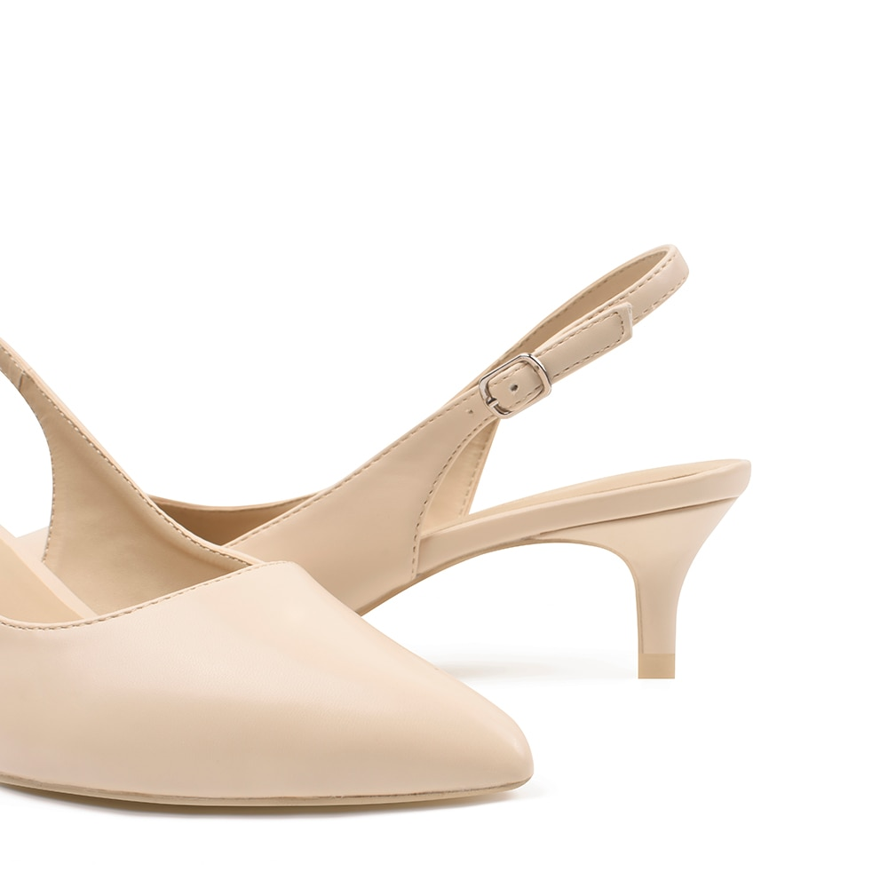 Women's Classic Pointed Toe Slingback Low Kitten Heel Comfortable Pumps Party Wedding Formal Work Fashion Comfort Dress Shoes