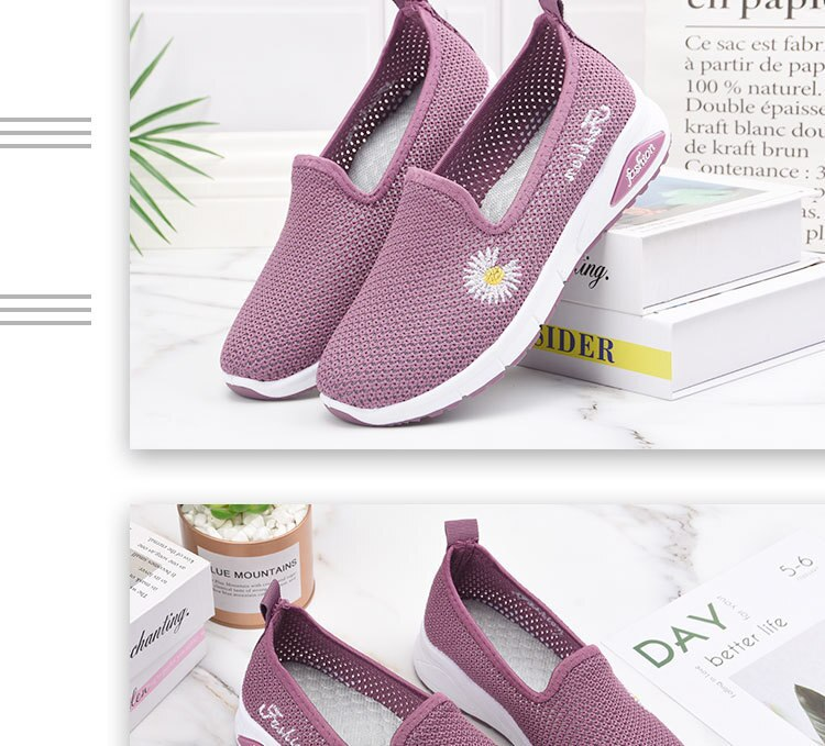 2020 Summer Woman shoes Casual Shoes Breathable Sneakers Women New Arrivals Fashion Small Daisies Mesh Sneakers Shoes Women