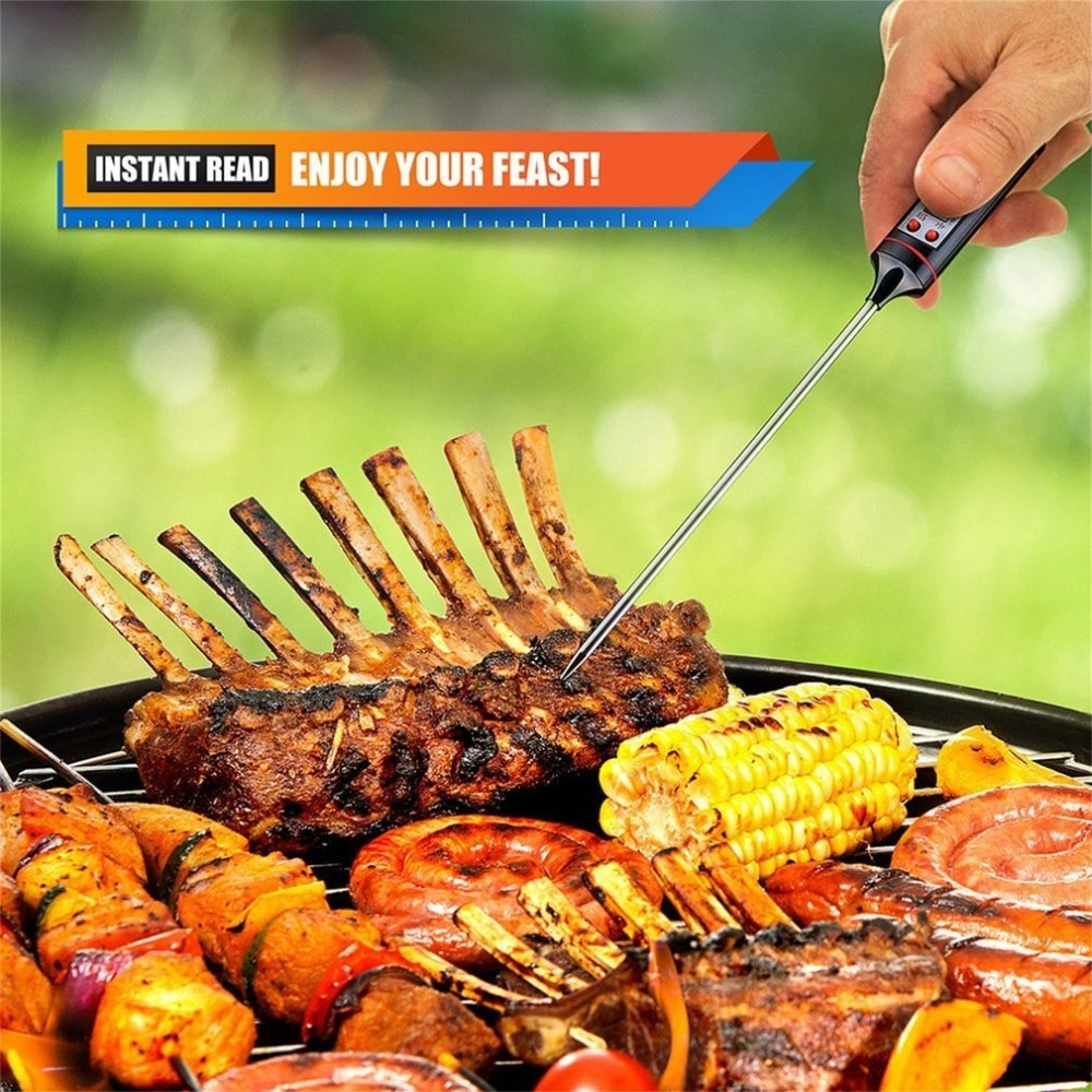 Kitchen Digital BBQ Baking Food Thermometer Meat Cake Candy Fry Grill Dinning Household Cooking Stainless Steel Thermometer Tool