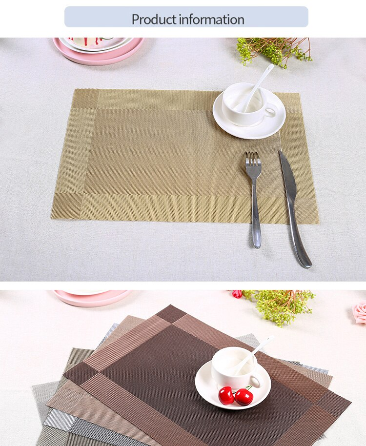 45x30cm Modern PVC Kitchen Dinning Placemat for Table Cup Pad Coffee Tea Coaster Decoration Individual Table Supplie Party Decor