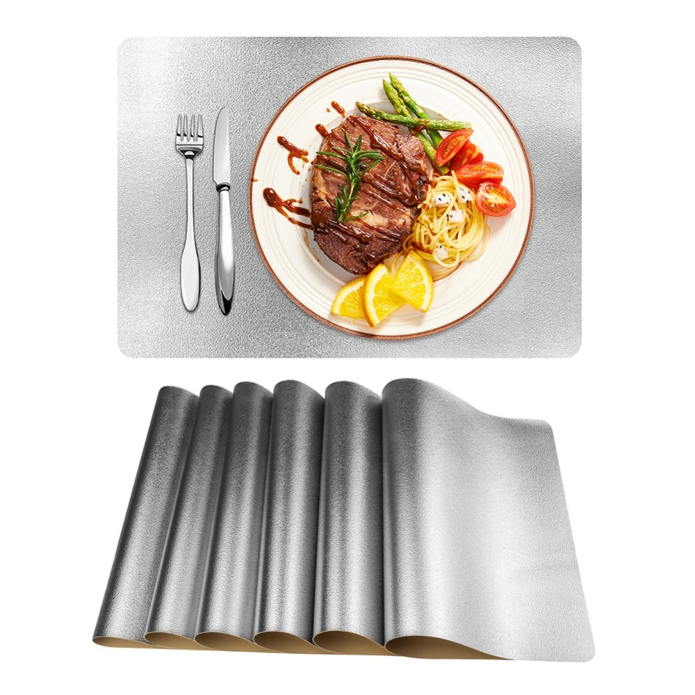 4/6/8PCS PVC Placemat for Dining Table Hollow Pad Coaster Pads Table Bowl Mats