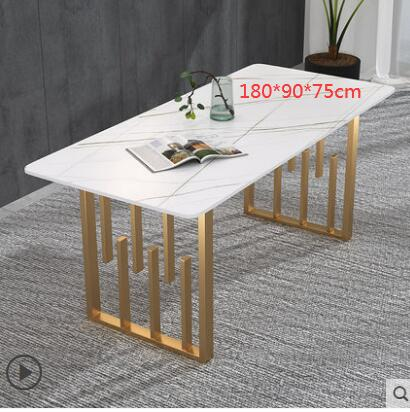 Rock plate scratch-proof dining table chair combination luxury Nordic marble dining table