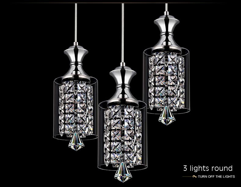 Modern Luxury Crystal Led Pendant Light Living room Dining Room Kitchen Glass Design Hanging Lamp Decor Home Lighting Fixture