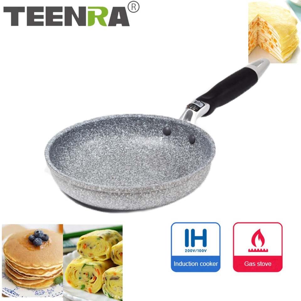 TEENRA 20Cm Japanese Style Frying pan Non-stick Pot Aluminum Fried Pan Pancake Steak Pans Maker Breakfast Pot Kitchen Tools