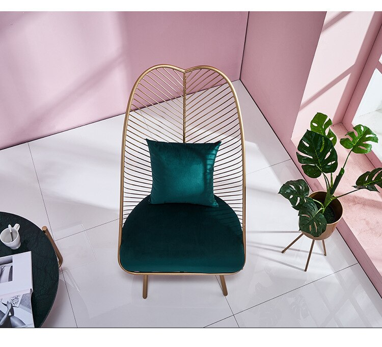 Hot New Metal Steel Leisure Chair Iron Wire Chair Hollow Dining Coffee Metal Bar Chairs Living Room Multiple Colour Furniture