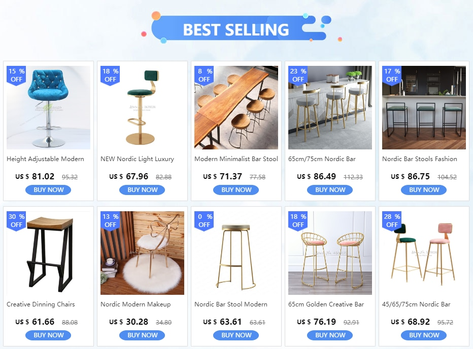NEW Nordic Light Luxury Home Backrest Bar Chair Height Adjustable Lifting High Chair Rotating Round Bar Stool High Quality
