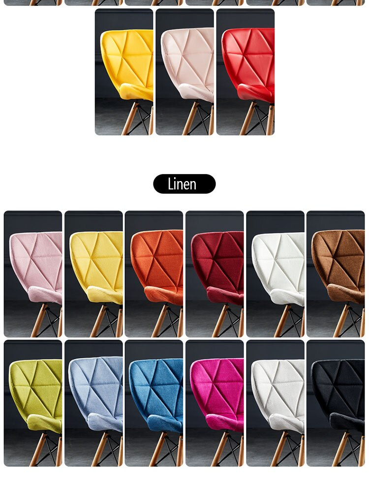 Dining chair Nordic solid wood dining chair household dining chair bedroom makeup chair computer chair nail milk tea shop chair