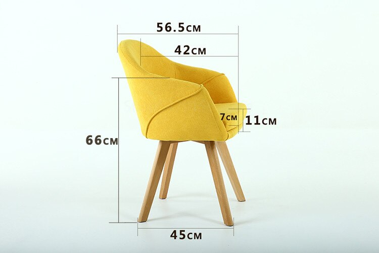 Nordic Living Room Chair Living Room Furniture Solid Wood Coffee Chair Sofa Hotel Chair Dining Chair Leisure Chair Makeup Chair