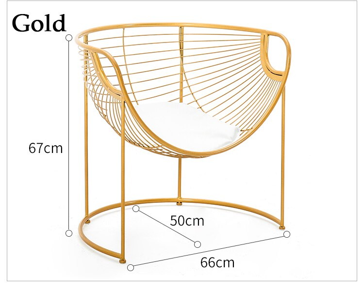 Nordic Metal Art Dining Chair Household Modern Makeup Chair Leisure Backrest Gold Chair Simple Dining Table design chair