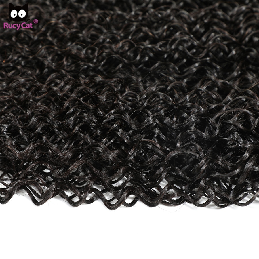 Rucycat 30 Inch Bundles Indian Curly Hair Bundles 32 34 36 Inchs 100% Top Human Hair Bundles No Shedding Human Hair Extensions