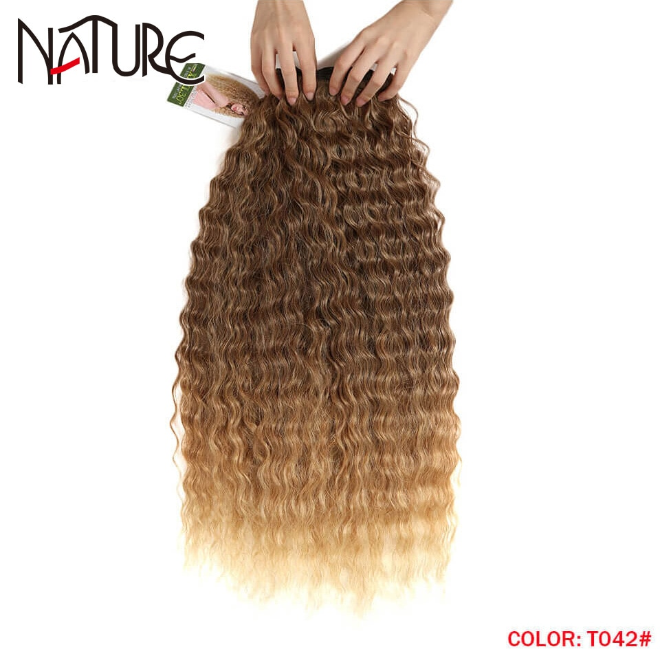 Nature Loose Deep Wave Hair Bundles 28-32Inch High Temperature Fiber Red Super Long Hair Synthetic Weave Fake Hair Extensions