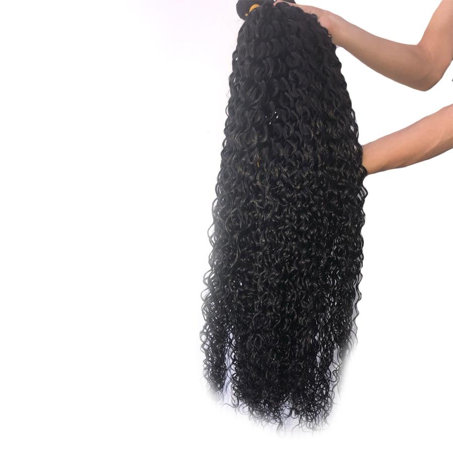 FDX 30 32 34 36 38 40 inch Water Wave Bundles Brazilian Hair Bundles Human Hair Extensions 3/4 Bundles Remy Hair Weave Bundles